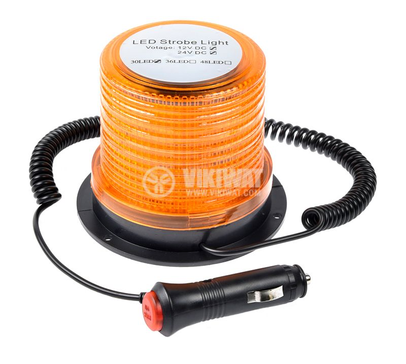 Flashing light, RD-213, LED306, 12-24VDC, orange with magnet - 1