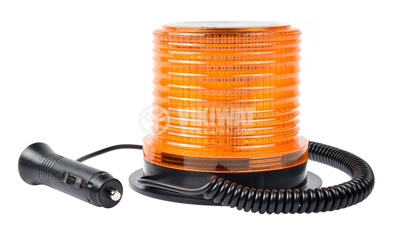 Flashing light, RD-213, LED306, 12-24VDC, orange with magnet - 2
