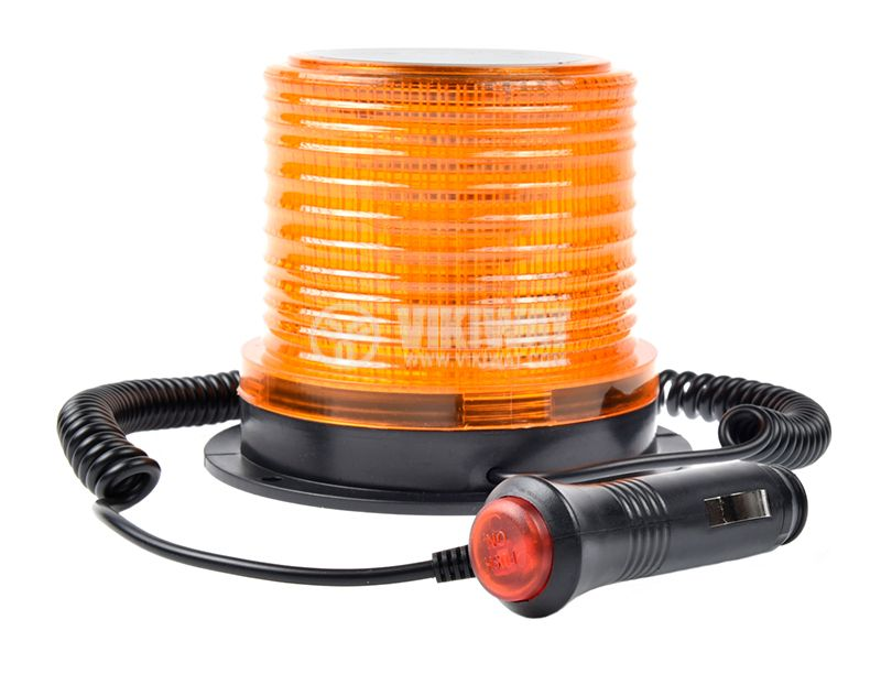 Flashing light, RD-213, LED306, 12-24VDC, orange with magnet - 3