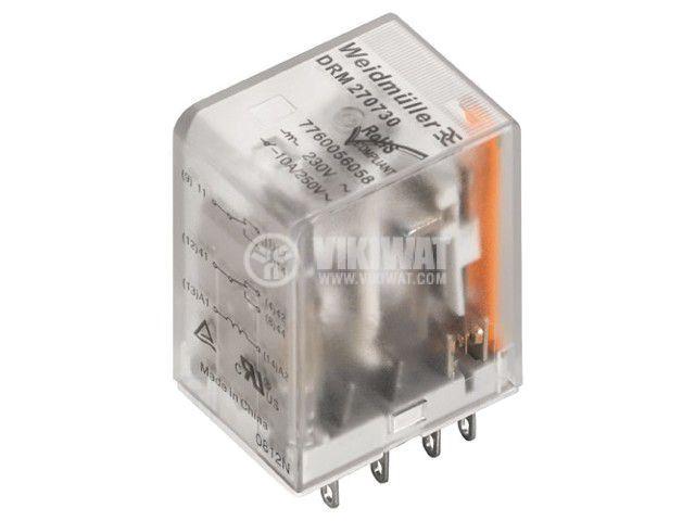 Реле електромагнитно 7760056078, бобина 12VDC, 5A, 250VAC, 4PDT