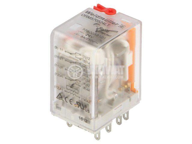 Реле електромагнитно 7760056101, бобина 24VAC, 5A, 250VAC, 4PDT