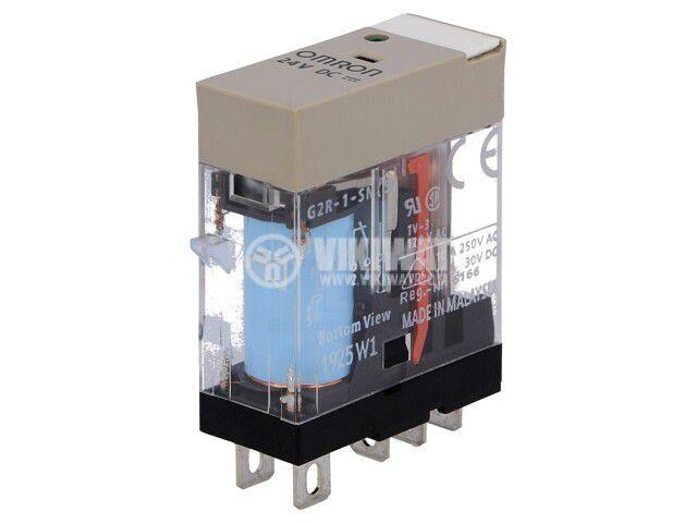 Реле електромагнитно G2R-1-SN 24VDC (S), бобина 24VDC, 10A, 250VAC