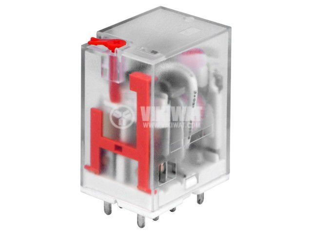 Реле електромагнитно LB2N-220VATP, бобина 230VAC, 10A, 240VAC, DPDT