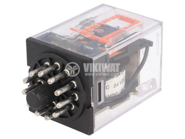 Реле електромагнитно MK3P5-I 24VDC, бобина 24VDC, 10A, 230VAC, 3PDT
