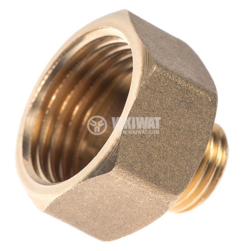 """Brass nipple G3/4""""-G1/2"""", S24mm - 1"""