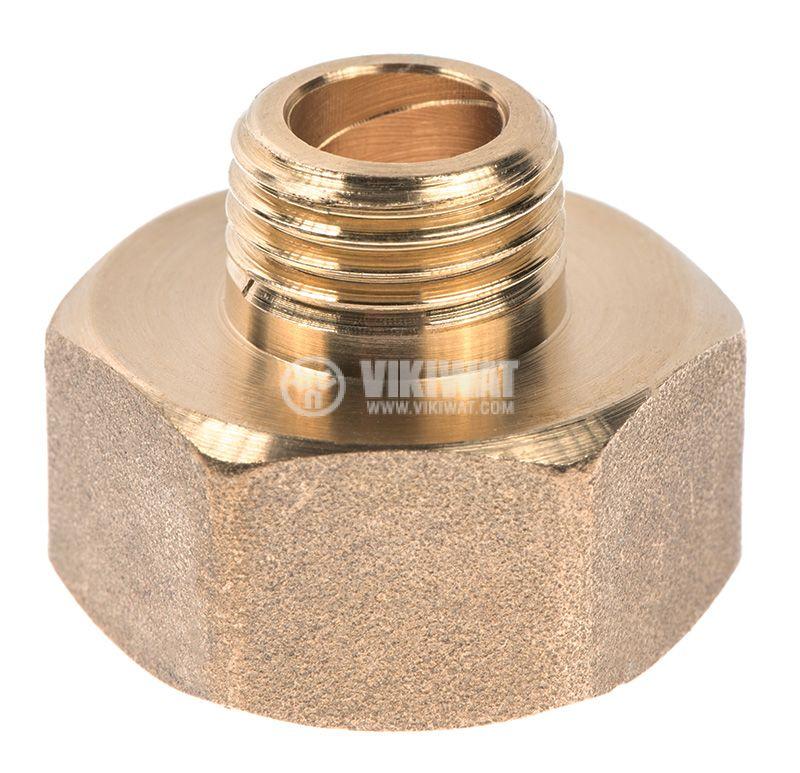 """Brass nipple G3/4""""-G1/2"""", S24mm - 2"""