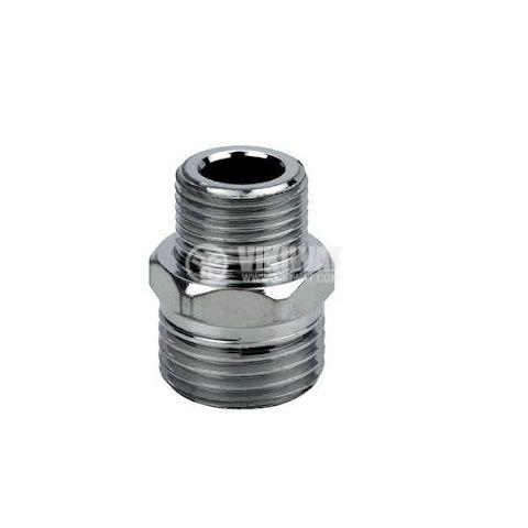 """Нипел, G1/2"""" - G3/4"""", S27 mm, метален"""