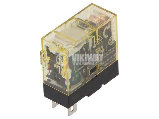 Реле електромагнитно RJ1S-CLD-D24, бобина 24VDC, 12A, 250VAC, SPDT