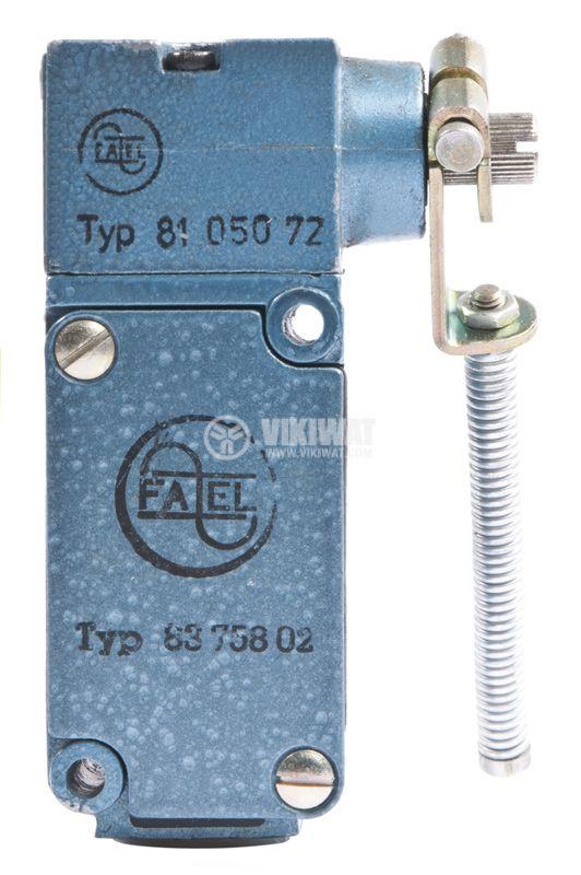 Краен изключвател FAEL 8105072, 10A/380V, NO+NC, рамо с пружина - 1
