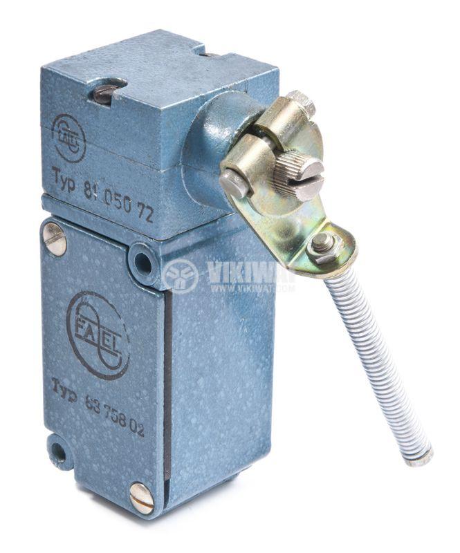 Краен изключвател FAEL 8105072, 10A/380V, NO+NC, рамо с пружина - 2