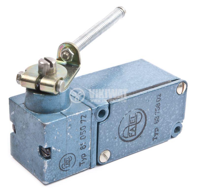 Краен изключвател FAEL 8105072, 10A/380V, NO+NC, рамо с пружина - 3