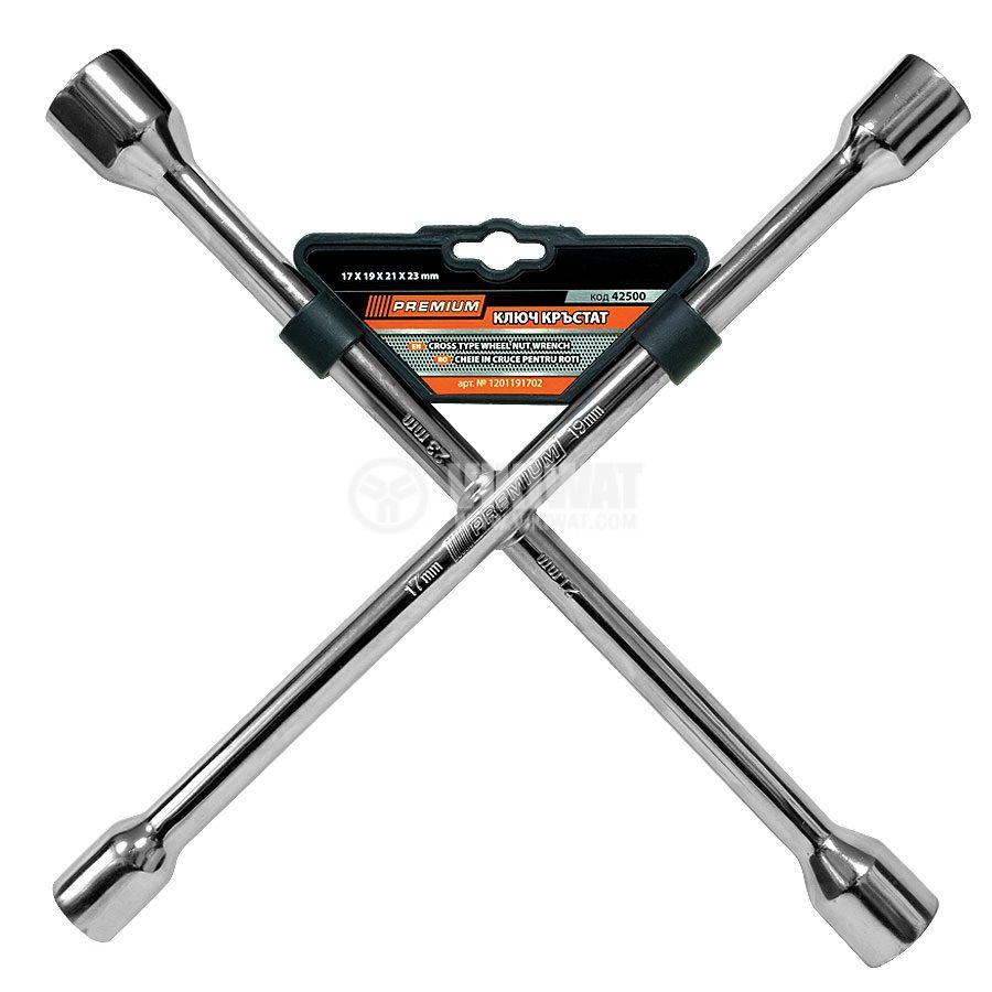 Кръстат ключ, 17mm, 19mm, 21mm, 23mm, PREMIUM
