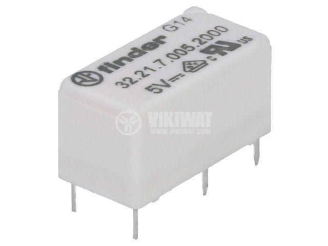 Реле електромагнитно 32.21.7.005.2000, бобина 5VDC, 15A, 250VAC, SPDT