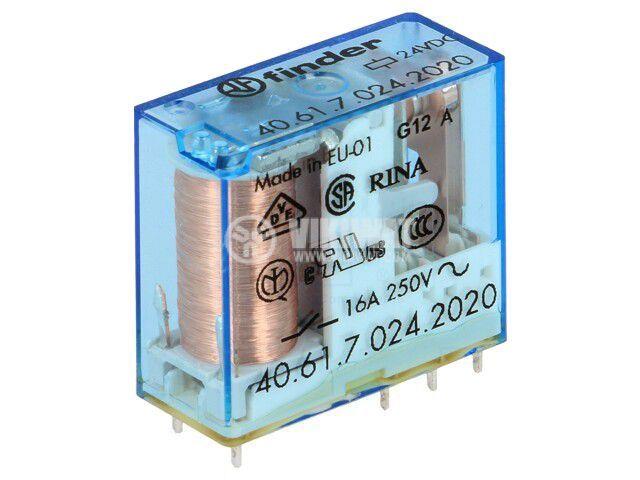 Реле електромагнитно 40.61.7.024.2020, бобина 24VDC, 30A, 250VAC, SPDT