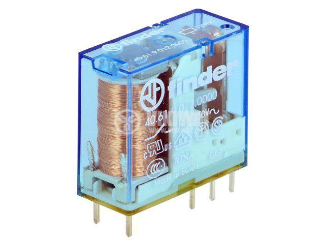 Реле електромагнитно 40.61.9.012.0000, бобина 12VDC, 30A, 250VAC, SPDT
