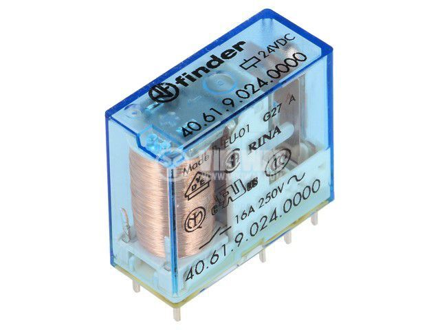 Реле електромагнитно 40.61.9.024.0000, бобина 24VDC, 30A, 250VAC, SPDT