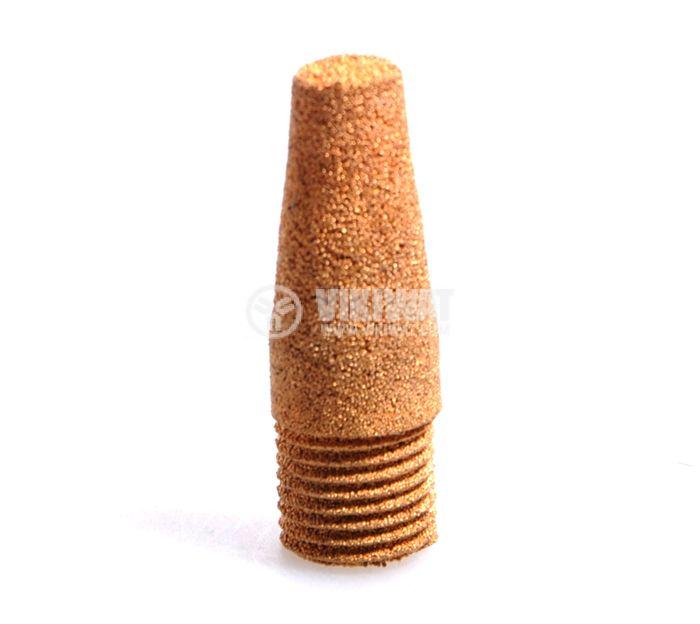 Заглушител на шум, резба М12 mm, спечен бронз,Ф12 x 35 mm