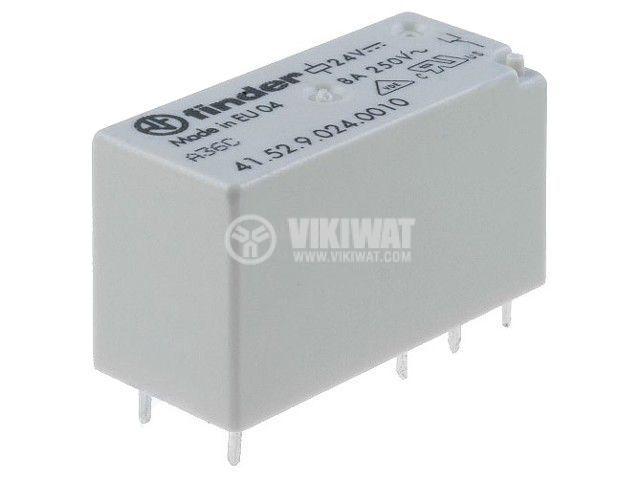 Реле електромагнитно 41.31.9.024.0010, бобина 24VDC, 25A, 250VAC, SPDT