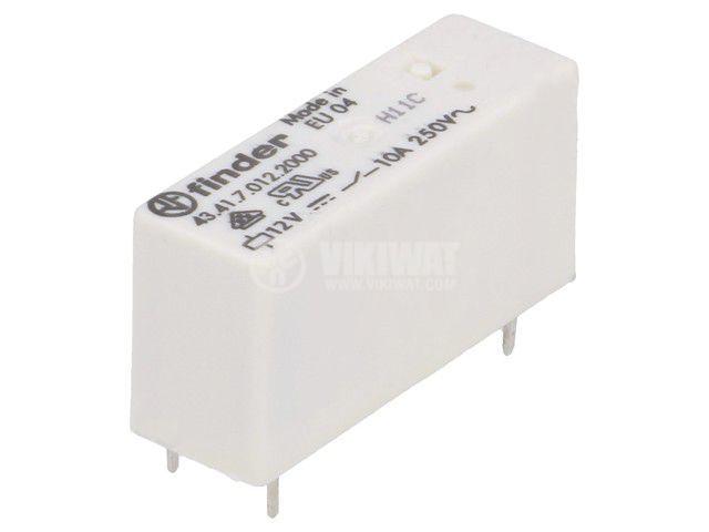 Реле електромагнитно 43.41.7.012.2000, бобина 12VDC, 15A, 250VAC, SPDT
