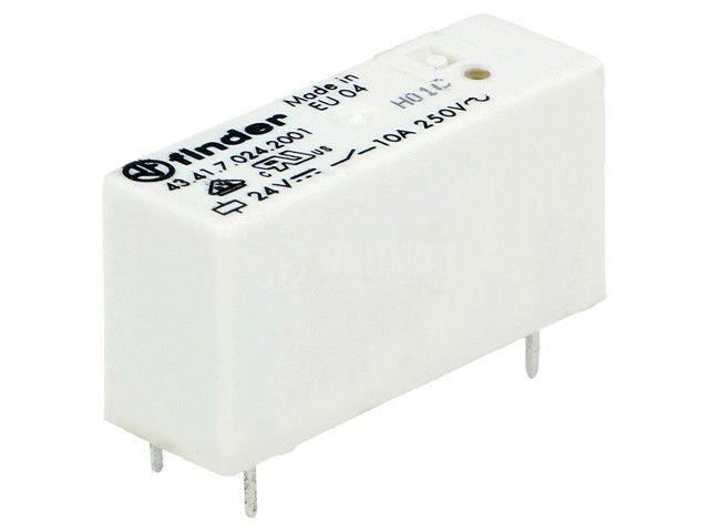 Реле електромагнитно 43.41.7.024.2001, бобина 24VDC, 15A, 250VAC, SPDT