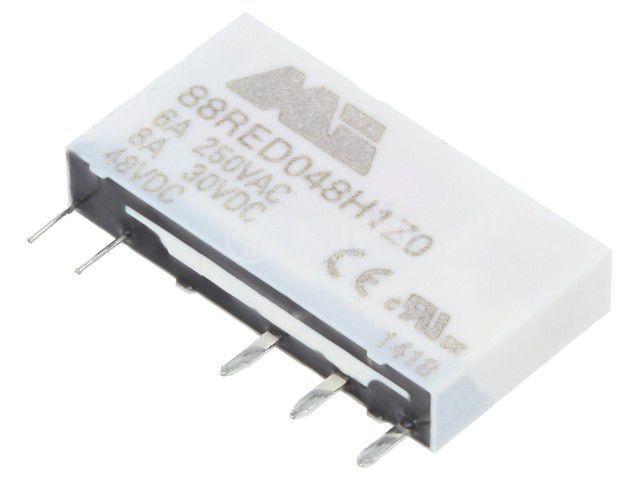 Реле електромагнитно 88RED048H1Z0, бобина 48VDC, 6A, 250VAC, SPDT