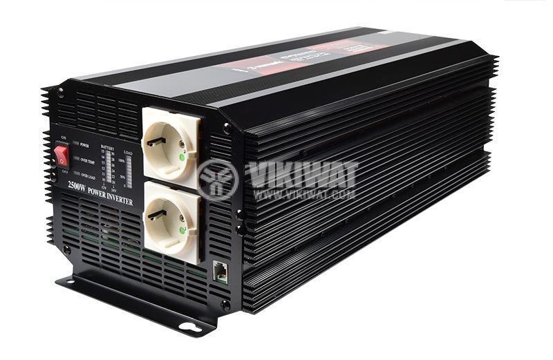 Инвертор A301-2500-24, 24VDC-220VAC, 2500W, модифицирана синусоида - 1