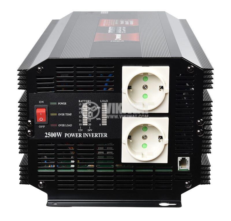 Инвертор A301-2500-24, 24VDC-220VAC, 2500W, модифицирана синусоида - 3