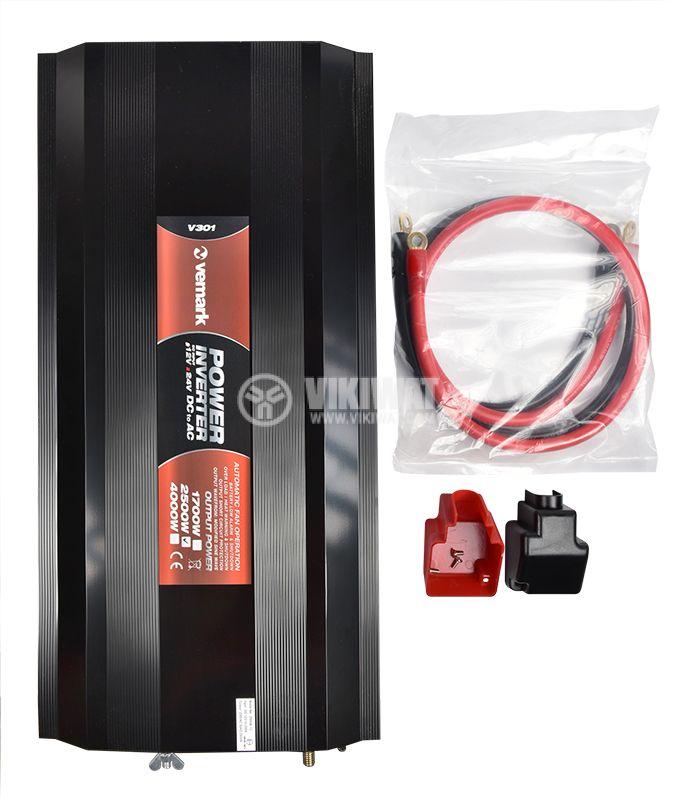 Инвертор A301-2500-24, 24VDC-220VAC, 2500W, модифицирана синусоида - 5