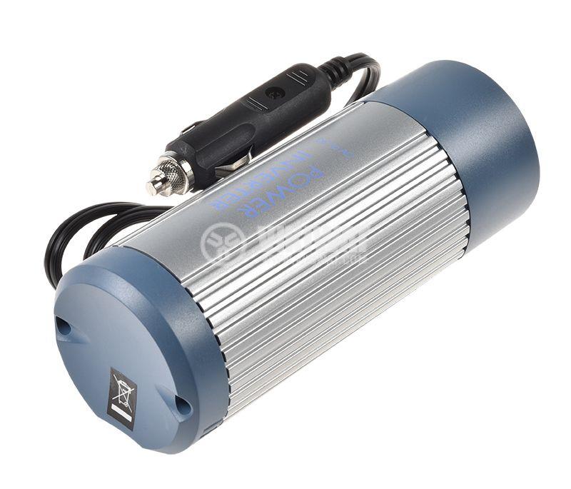 Инвертор A301-150N-24, 24VDC - 220VAC, 150W + USB, модифицирана синусоида - 2