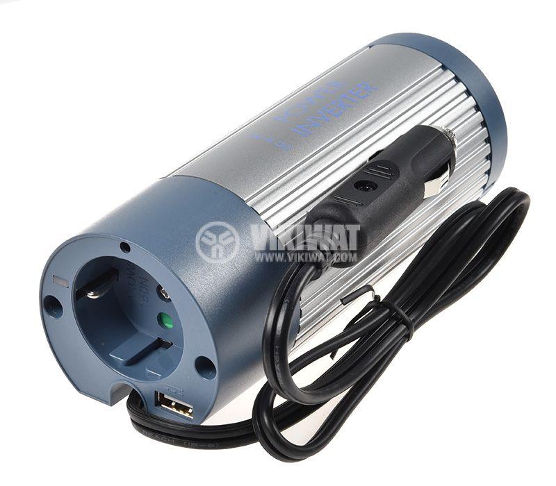 Инвертор A301-150N-24, 24VDC - 220VAC, 150W + USB, модифицирана синусоида - 1