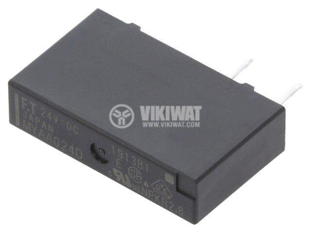 Реле електромагнитно FTR-MYAA024D, бобина 24VDC, 5A, 250VAC, SPST