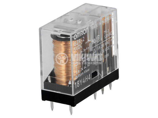 Реле електромагнитно G2R-2 5VDC, бобина 5VDC, 5A, 250VAC, DPDT