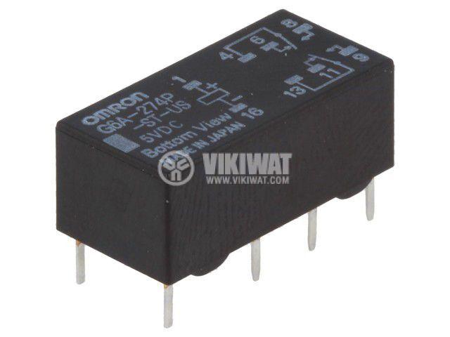 Реле електромагнитно G6A-274P-ST-US 5VDC, бобина 5VDC, 2A, 125VAC