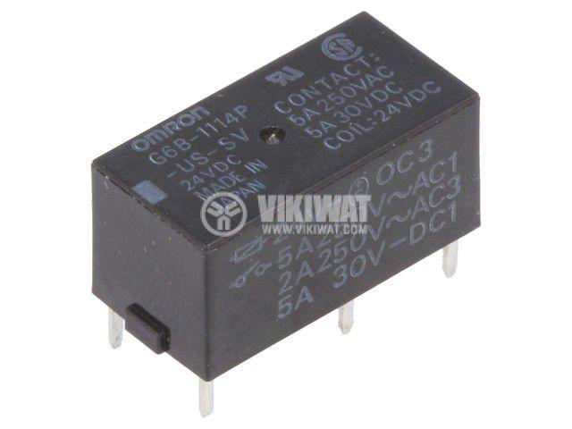 Реле електромагнитно G6B-1114P-US-SV 24VDC, бобина 24VDC, 5A, 250VAC