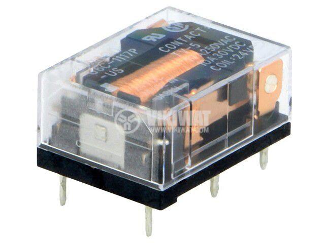 Реле електромагнитно G6C-1117P-US 24VDC, бобина 24VDC, 10A, 250VAC