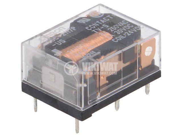 Реле електромагнитно G6C-2117P-US 24VDC, бобина 24VDC, 8A, 250VAC