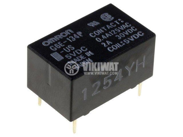 Реле електромагнитно G6E-134P-US 12VDC, бобина 12VDC, 3A, 125VAC, SPDT