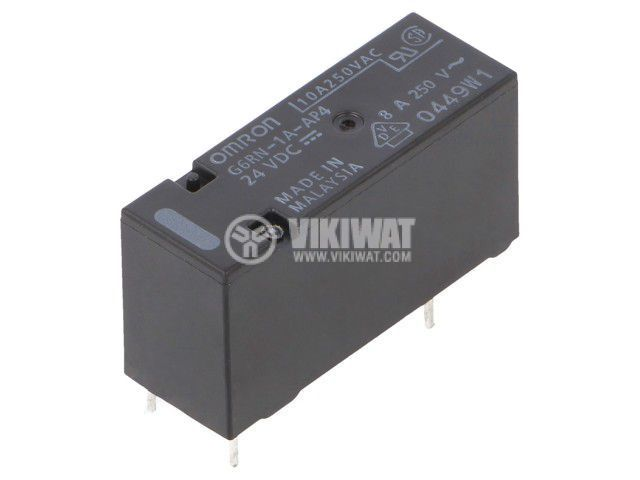 Реле електромагнитно G6RN-1A-AP4 24DC, бобина 24VDC, 8A, 250VAC, SPST