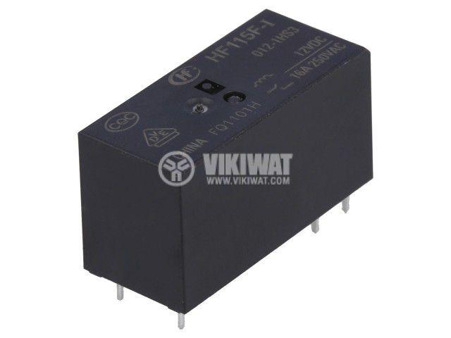 Реле електромагнитно HF115F-I/012-1HS3, бобина 12VDC, 16A, 250VAC