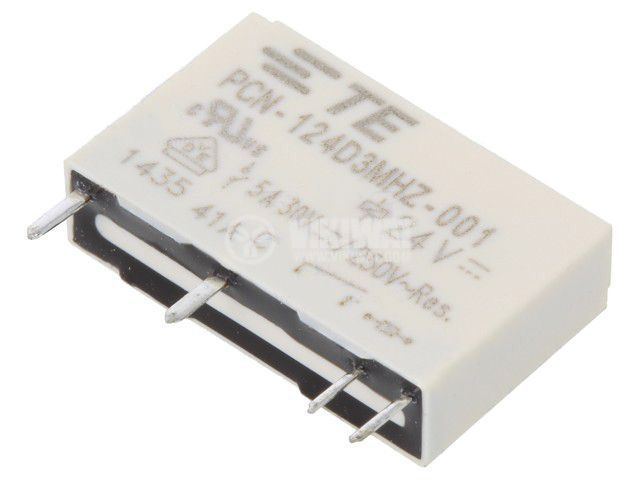 Реле електромагнитно 7-1461491-6, бобина 24VDC, 5A, 250VAC, SPST