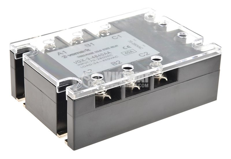 Solid State Relay VGX-3-4840AA, 70-280VAC, 40A/480VAC 