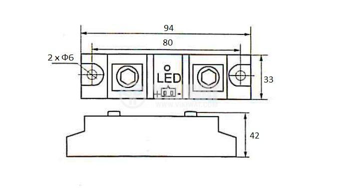 Реле полупроводниково 100-440V - 3