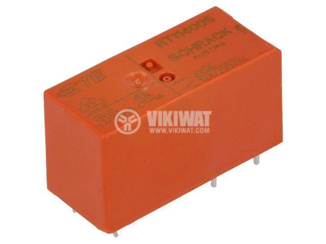 Реле електромагнитно 0-1393239-8, бобина 6VDC, 12A, 250VAC, SPDT