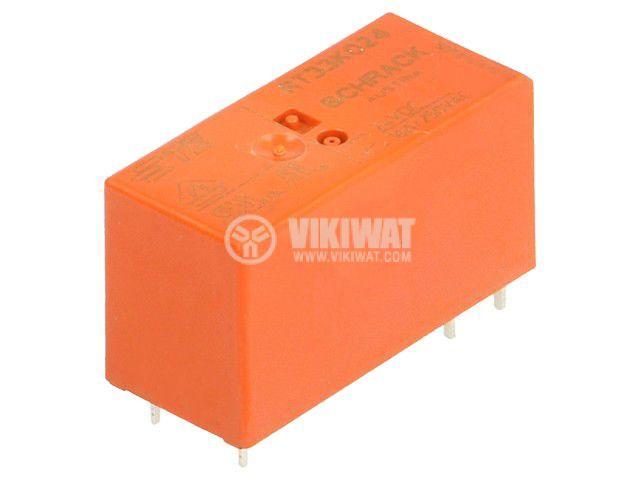 Реле електромагнитно 2-1393240-4, бобина 24VDC, 16A, 250VAC, SPST