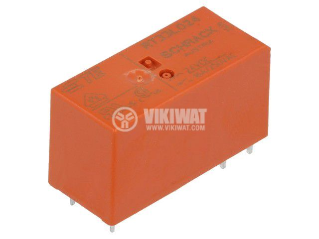 Реле електромагнитно 3-1393240-5, бобина 24VDC, 16A, 250VAC, SPST