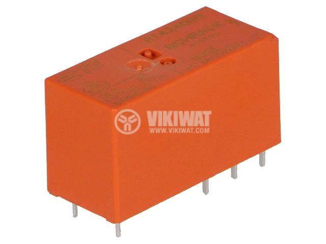 Реле електромагнитно 7-1393243-3, бобина 60VDC, 8A, 250VAC, DPDT