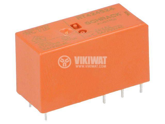Реле електромагнитно 7-1393243-6, бобина 24VAC, 8A, 250VAC, DPDT