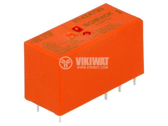 Реле електромагнитно 7-1393243-9, бобина 230VAC, 8A, 250VAC, DPDT