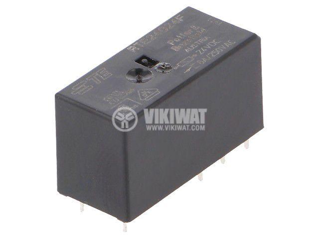 Реле електромагнитно 3-1393237-3, бобина 24VDC, 8A, 250VAC, DPDT