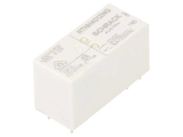 Реле електромагнитно 4-1415536-2, бобина 12VDC, 16A, 250VAC, SPST